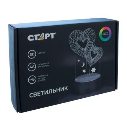 Ночник СТАРТ 15776 3D Сердце
