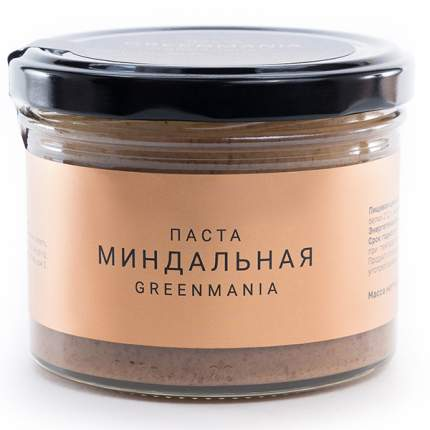 Паста GreenMania миндальная 200 г