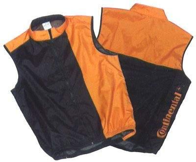 Веложилет continental. цвет: черный, оранжевый. размер: l.