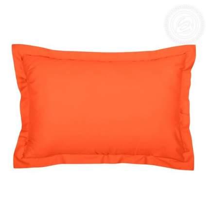 Наволочки с ушками из сатина (оранжевые) 70х50
