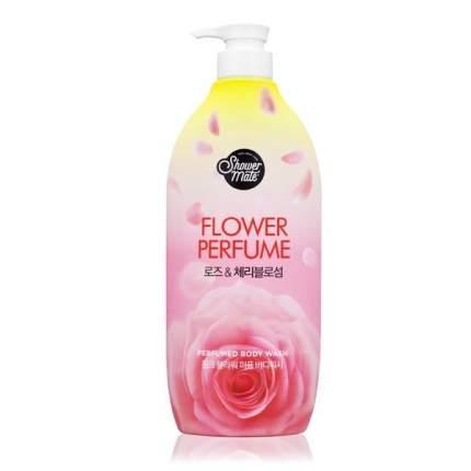 Гель для душа SHOWER MATE  Flower Perfume Pink Flower Роза 900мл