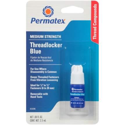 Фиксатор резьбы Permatex 24206 средней фиксации синий 2,5 мл