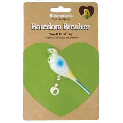 Игрушка для птиц Rosewood Подружка на жердочку на пружинке, белая, 11 см