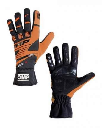 Перчатки для картинга OMP Racing KK02743E096XXS KS-3 my2018 черный/оранжевый р XXS