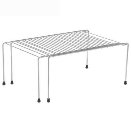 Полка раздвижная для шкафа, хром, 37-62 x 22 x 15 см.
