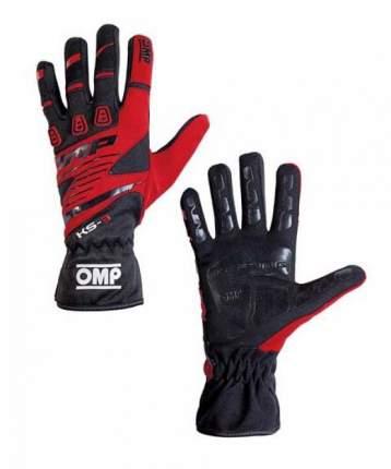 Перчатки для картинга OMP Racing KK02743E060XS  KS-3 my2018 черный/красный р XS