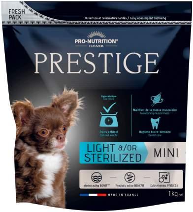 Сухой корм для собак Flatazor PRESTIGE LIGHT/STERILISED MINI , курица, утка,  1кг