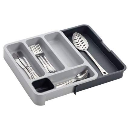 Раздвижной лоток под столовые приборы Expandable cutlery tray серый
