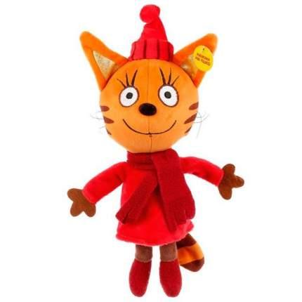 Мягкая игрушка Мульти-пульти Три кота Карамелька в зимней одежде со звуком, 16 см