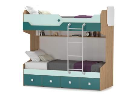 Кровать двухъярусная с лестницей Mobi Джуниор 01.71 гикори рокфорд сп.м. 80х190см.