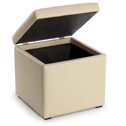 Пуф Люкс с ящиком беж