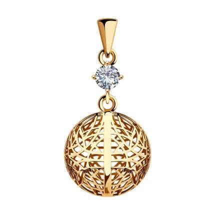 Подвеска SOKOLOV из золота с фианитом 035764