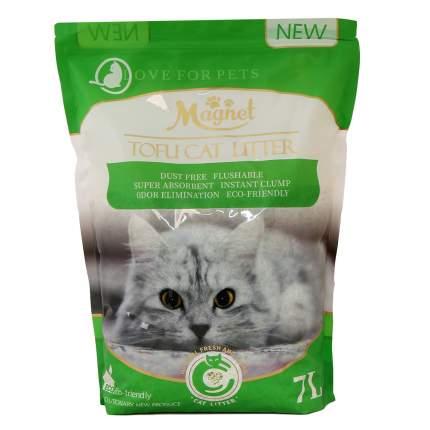 Комкующийся наполнитель для кошек Magnet Tofu Cat Litter соевый, зеленый чай, 2.6 кг, 7 л