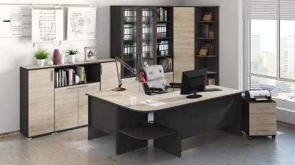 Письменный стол ТриЯ Успех-2 ПМ-184.10, венге цаво/дуб сонома
