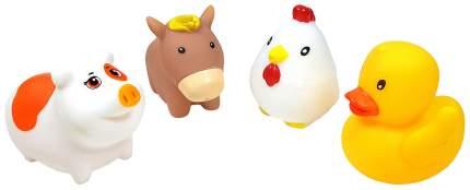 Набор игрушек для ванной ЯиГрушка Сельские животные 12309-1 4 штуки
