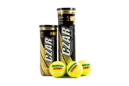 Теннисные мячи CZAR PLUS Vinex T-11014 (4 мяча) желтые