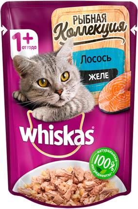 Влажный корм для кошек Whiskas Рыбная коллекция, с лососем в желе, 85г