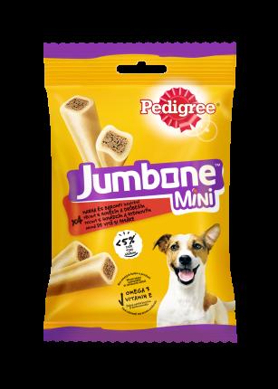 Лакомство для мелких собак Pedigree Jumbone Mini, батончики с говядиной и курицей, 160г