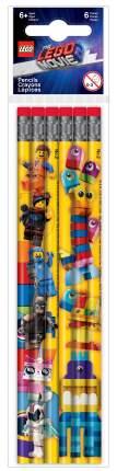 Набор простых карандашей с ластиками LEGO Movie 2, 6 шт. LEGO Movie