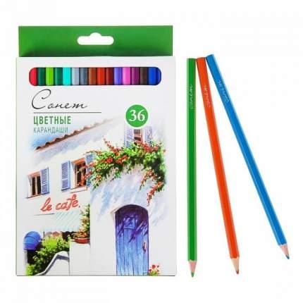 Карандаши художественные цветные «Сонет», 36 цветов Невская палитра