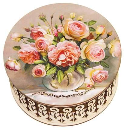 Конфеты Кремлина чернослив шоколадный розы шкатулка круглая 400 г