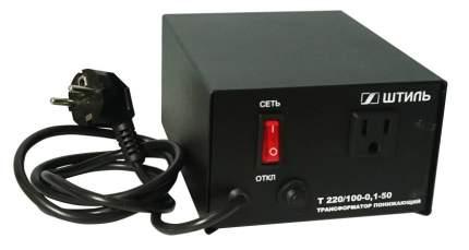 Понижающий трансформатор Т 220/100-0,1-50 черный корпус 100 ВА