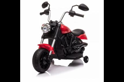 Детский электромотоцикл Jiajia 8740015-Red с надувными колесами