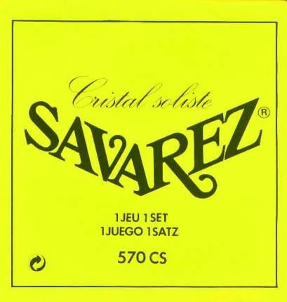 Струны для классической гитары Savarez 570CS Cristal Soliste Yellow high tension 24-41