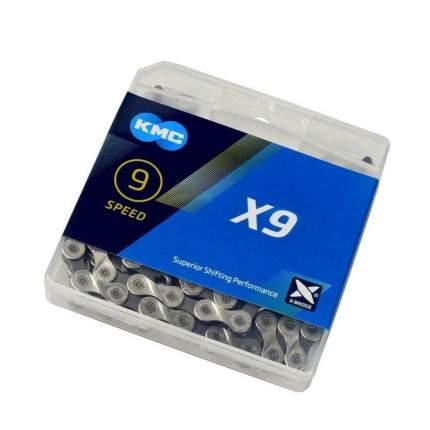 Цепь вело X9 KMC 116 звеньев 9 ск