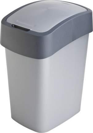 Контейнер для мусора FLIP BIN 10л серебристый/графит