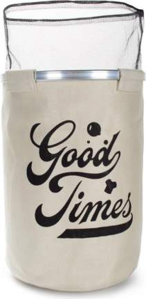 Корзина для белья круглая GOOD TIMES бежевая