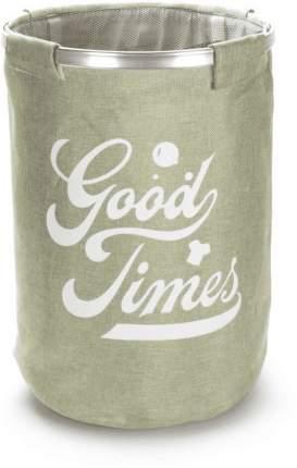 Корзина для белья круглая GOOD TIMES зеленая