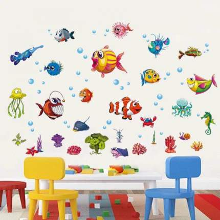 Наклейки на стену Подводный мир 45х60 см Animal World