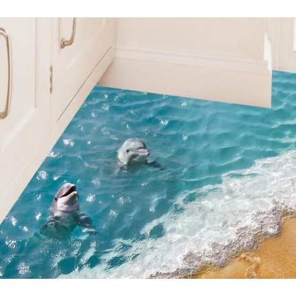 Наклейки на стену На берегу моря 60х90 см Animal World