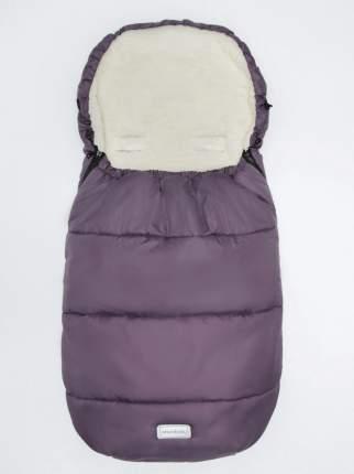 Конверт зимний меховой Amarobaby Snowy Travel Фиолетовый, 105 см