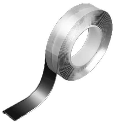 Многоразовая крепежная лента Grip Tape прозрачная 3 м