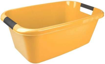 Таз Plast Team LICA с ручками прямоугольный 525х320х205 мм 20л желтый