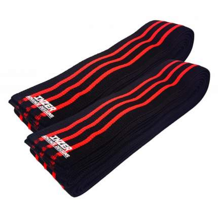 Спортивный бинт Inzer Z Knee Wraps черный/красный 200 см