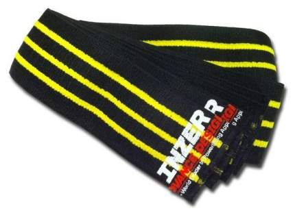 Спортивный бинт Inzer Gripper Knee Wraps черный/желтый 200 см
