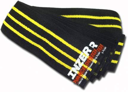 Спортивный бинт Inzer Gripper Knee Wraps черный/желтый 250 см