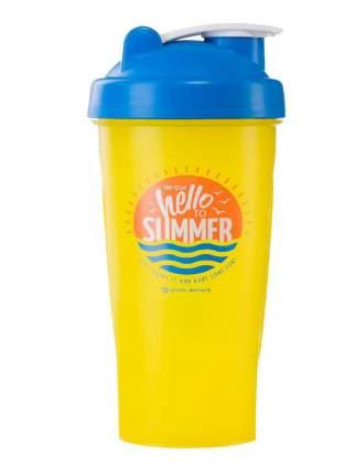 Спортивный элемент Шейкер Hello Summer (Жёлтый Time to say hello to Summer) 600 мл