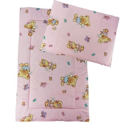 Набор в коляску Папитто подушка и матрасик розовый