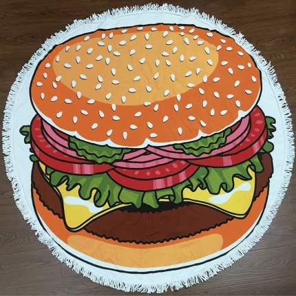 Круглое пляжное покрывало (полотенце) Гамбургер 150 см