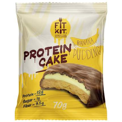 Fit Kit Protein Cake 70 г мини-набор из 3 шт Банановый пудинг