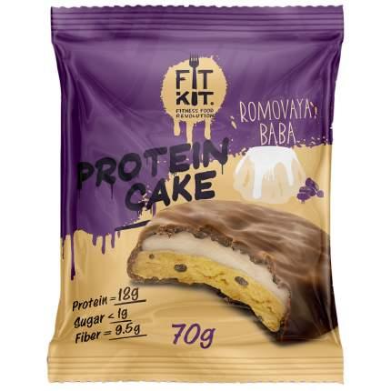 Fit Kit Protein Cake 70 г мини-набор из 3 шт Ромовая баба