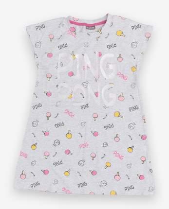 Сорочка ночная детская Gulliver, цв. серый р.110
