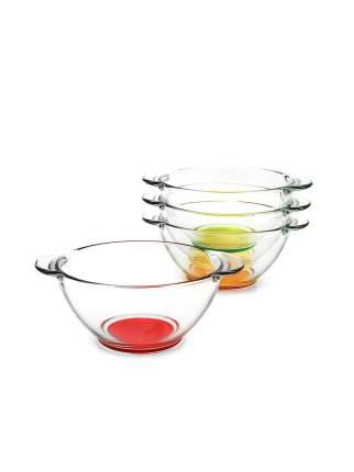 Набор супниц с цветным дном 4шт