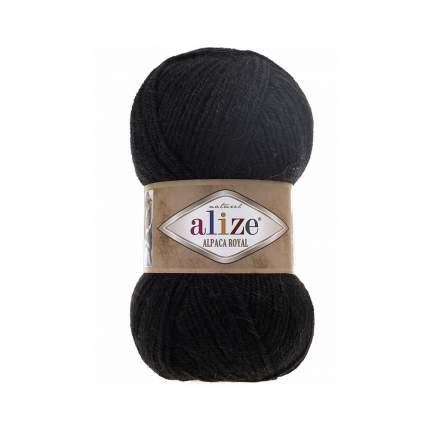"""Пряжа ALIZE """"Альпака Фэнси"""", цвет 60 чёрный, 1 моток, арт. 364012"""