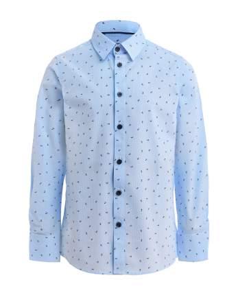 Рубашка для мальчиков Gulliver, цв. голубой, р.122