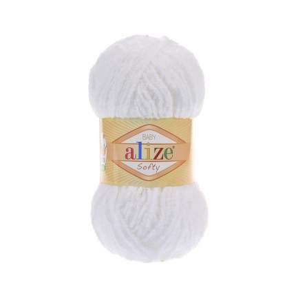 "Пряжа Alize ""Softy"", цвет: 55 белый, 115 м, 50 грамм (5 мотков) ( 5)"